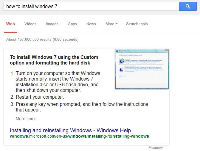 שאלה ותשובה מתוך התוצאות של גוגל
