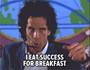 אני אוכל הצלחה בארוחת בוקר