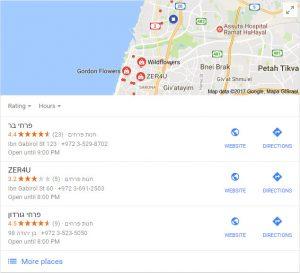 דירוג בתוצאות החיפוש המקומיות