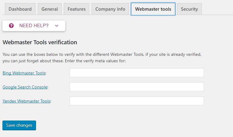 Webmaster tools - Yoast