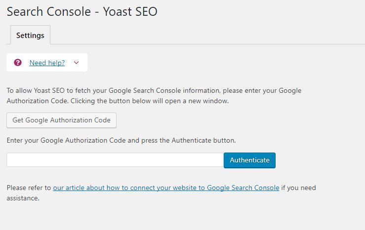 Search console - Yoast